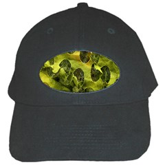 Olive Seamless Camouflage Pattern Black Cap