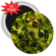 Olive Seamless Camouflage Pattern 3  Magnets (10 Pack)  by Nexatart