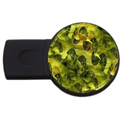Olive Seamless Camouflage Pattern Usb Flash Drive Round (4 Gb) by Nexatart