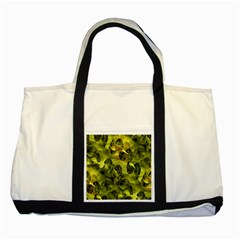 Olive Seamless Camouflage Pattern Two Tone Tote Bag