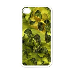 Olive Seamless Camouflage Pattern Apple Iphone 4 Case (white)