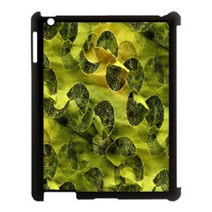 Olive Seamless Camouflage Pattern Apple Ipad 3/4 Case (black) by Nexatart
