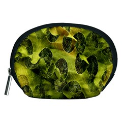 Olive Seamless Camouflage Pattern Accessory Pouches (medium)  by Nexatart