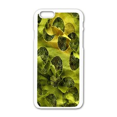 Olive Seamless Camouflage Pattern Apple Iphone 6/6s White Enamel Case by Nexatart