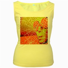 Orange Guy Spider Web Women s Yellow Tank Top