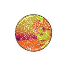 Orange Guy Spider Web Hat Clip Ball Marker by Nexatart