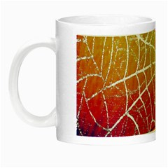 Orange Guy Spider Web Night Luminous Mugs by Nexatart