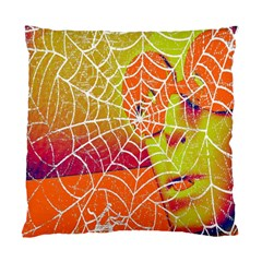Orange Guy Spider Web Standard Cushion Case (two Sides) by Nexatart