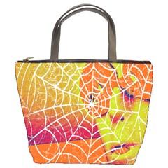Orange Guy Spider Web Bucket Bags by Nexatart