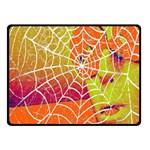 Orange Guy Spider Web Fleece Blanket (Small) 50 x40 Blanket Front