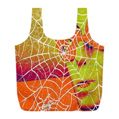 Orange Guy Spider Web Full Print Recycle Bags (l)