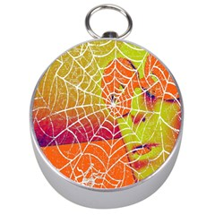 Orange Guy Spider Web Silver Compasses by Nexatart