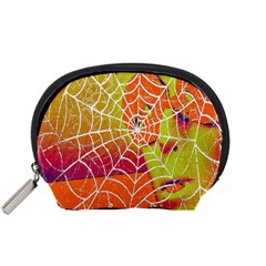 Orange Guy Spider Web Accessory Pouches (small)  by Nexatart