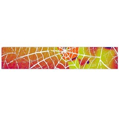 Orange Guy Spider Web Flano Scarf (large) by Nexatart