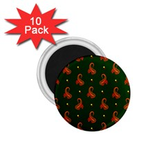 Paisley Pattern 1 75  Magnets (10 Pack)