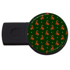 Paisley Pattern Usb Flash Drive Round (4 Gb)