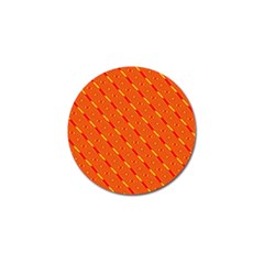 Orange Pattern Background Golf Ball Marker (10 Pack) by Nexatart
