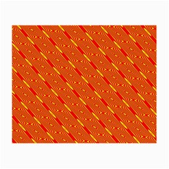 Orange Pattern Background Small Glasses Cloth (2 Side) by Nexatart