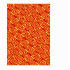 Orange Pattern Background Large Garden Flag (two Sides)