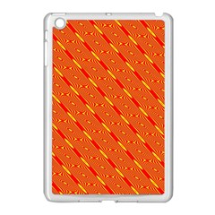 Orange Pattern Background Apple Ipad Mini Case (white) by Nexatart