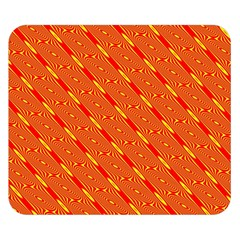 Orange Pattern Background Double Sided Flano Blanket (small)