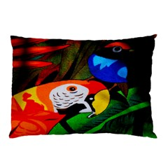 Papgei Red Bird Animal World Towel Pillow Case by Nexatart