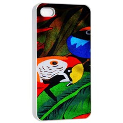Papgei Red Bird Animal World Towel Apple Iphone 4/4s Seamless Case (white) by Nexatart