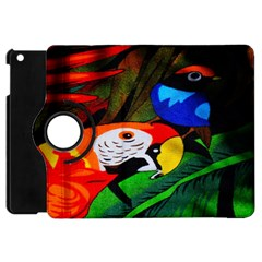 Papgei Red Bird Animal World Towel Apple Ipad Mini Flip 360 Case by Nexatart
