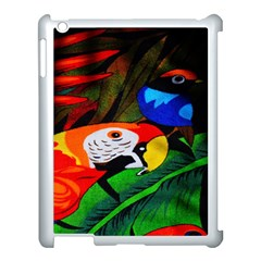 Papgei Red Bird Animal World Towel Apple Ipad 3/4 Case (white)