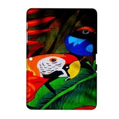 Papgei Red Bird Animal World Towel Samsung Galaxy Tab 2 (10 1 ) P5100 Hardshell Case  by Nexatart