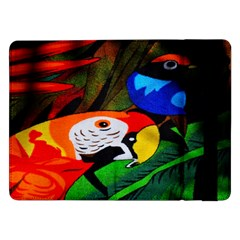 Papgei Red Bird Animal World Towel Samsung Galaxy Tab Pro 12 2  Flip Case by Nexatart