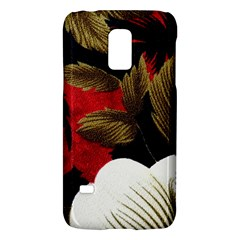Paradis Tropical Fabric Background In Red And White Flora Galaxy S5 Mini