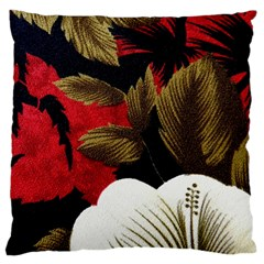 Paradis Tropical Fabric Background In Red And White Flora Standard Flano Cushion Case (one Side)