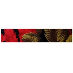 Paradis Tropical Fabric Background In Red And White Flora Flano Scarf (large)