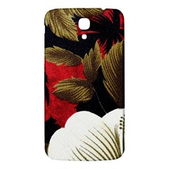 Paradis Tropical Fabric Background In Red And White Flora Samsung Galaxy Mega I9200 Hardshell Back Case