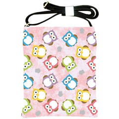 Owl Bird Cute Pattern Shoulder Sling Bags by Nexatart