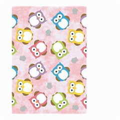 Owl Bird Cute Pattern Small Garden Flag (Two Sides) by Nexatart