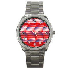 Patriotic  Sport Metal Watch