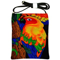 Parakeet Colorful Bird Animal Shoulder Sling Bags