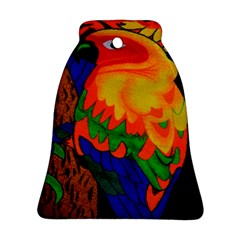 Parakeet Colorful Bird Animal Bell Ornament (two Sides)