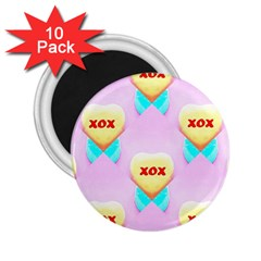 Pastel Heart 2 25  Magnets (10 Pack)
