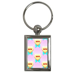 Pastel Heart Key Chains (rectangle)