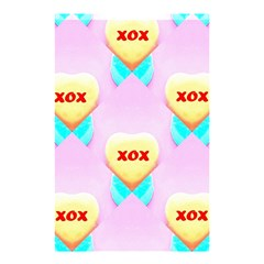 Pastel Heart Shower Curtain 48  X 72  (small)  by Nexatart