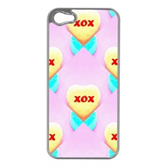 Pastel Heart Apple Iphone 5 Case (silver) by Nexatart