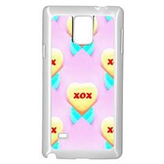 Pastel Heart Samsung Galaxy Note 4 Case (white)