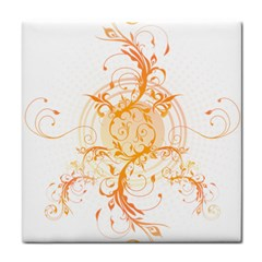 Orange Swirls Tile Coasters by SheGetsCreative