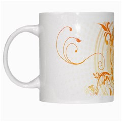 Orange Swirls White Mugs by SheGetsCreative