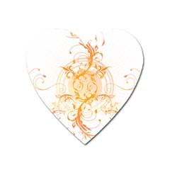 Orange Swirls Heart Magnet by SheGetsCreative