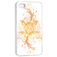 Orange Swirls Apple Iphone 4/4s Seamless Case (white)