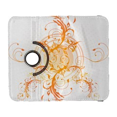 Orange Swirls Galaxy S3 (flip/folio) by SheGetsCreative